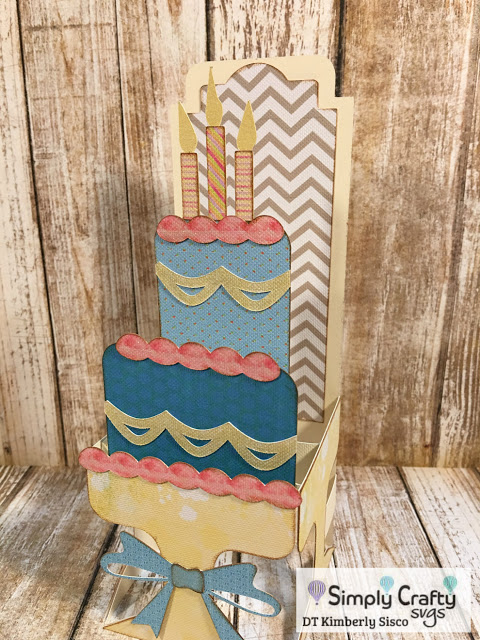 Tiered Cake Box Card by DT Kimberly Sisco
