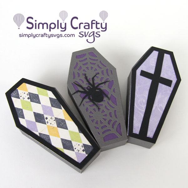 Creepy Coffin Box SVG FIle