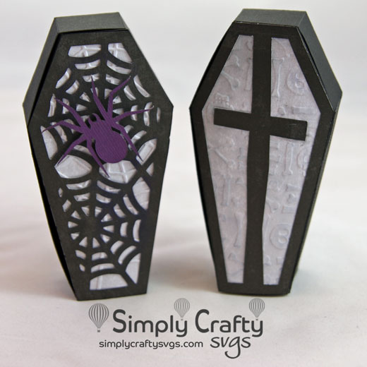 Creepy Coffin Box SVG File