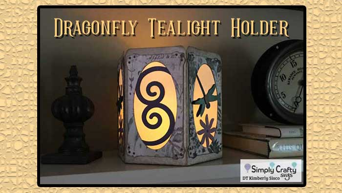 Dragonfly Tealight Holder by DT Kimberly Sisco