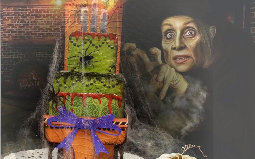 Halloween Cake Card by DT Els Schutte
