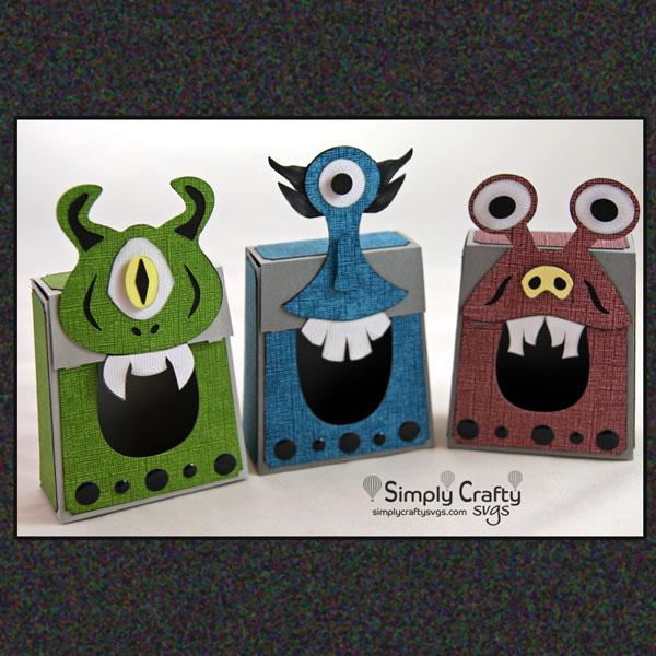 Monster Box Set SVG File