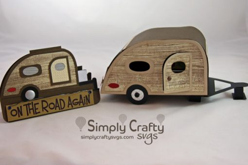 Teardrop Trailer Box and Card Set SVG Files