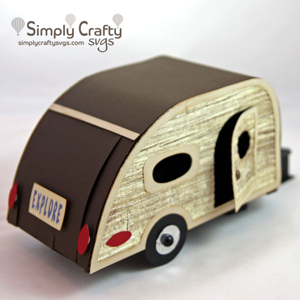 Teardrop Trailer Box SVG File