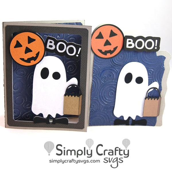 Free Boo Halloween Card SVG File