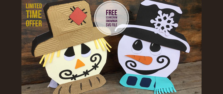 (Expired)FREE Reversible Scarecrow Snowman SVG for Limited Time