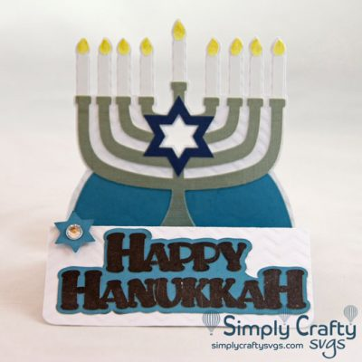 Hanukkah Menorah Card SVG File