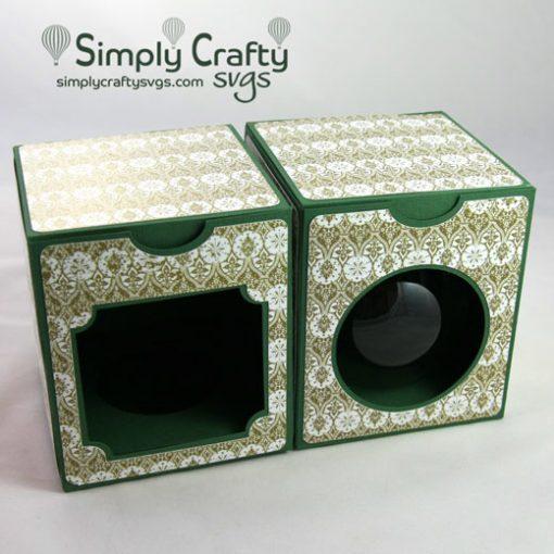 Round Ball Ornament Box 4 in SVG File