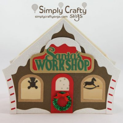 Santa's Workshop Box Card SVG File