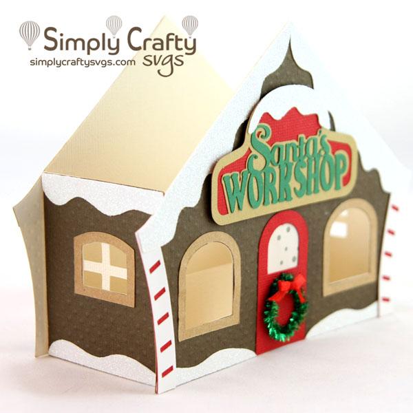 Santa's Workshop Box Card SVG File