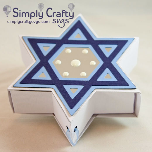 Star of David Box SVG File