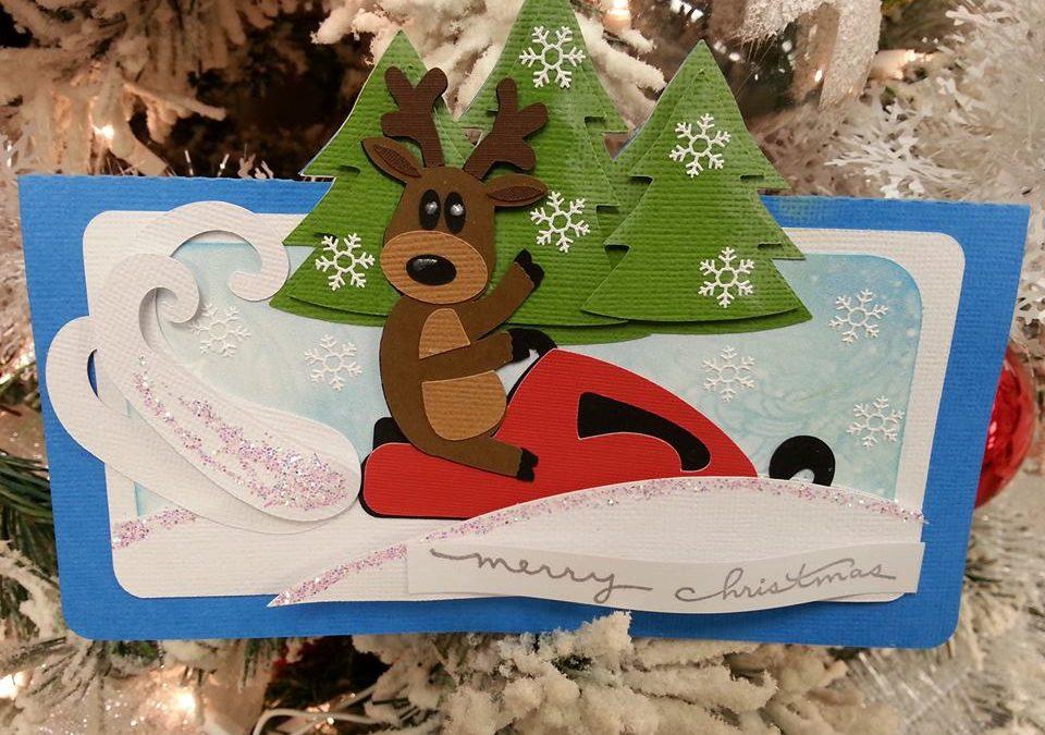 Dashing Reindeer Card by DT Els