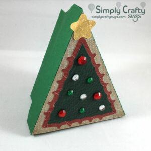Tree Gift Box SVG File