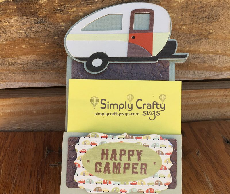 Camping Sticky Notepad Holder with Cricut Design Space
