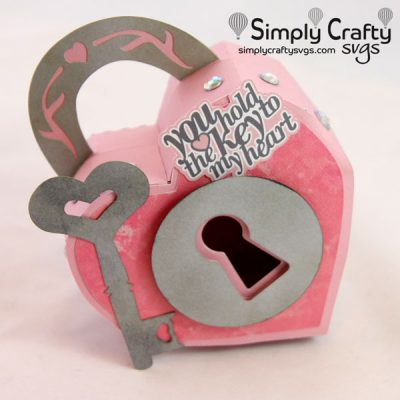 Heart Lock Box SVG file