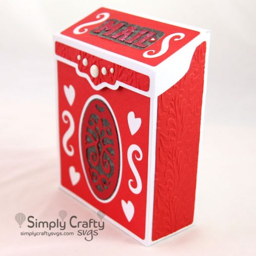 Red Vintage Mailbox SVG File