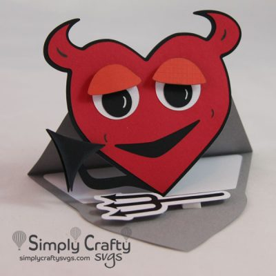 Lil Devil Easel Card SVG File