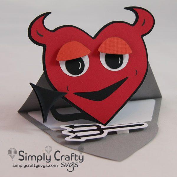 Lil Devil Easel Card SVG File