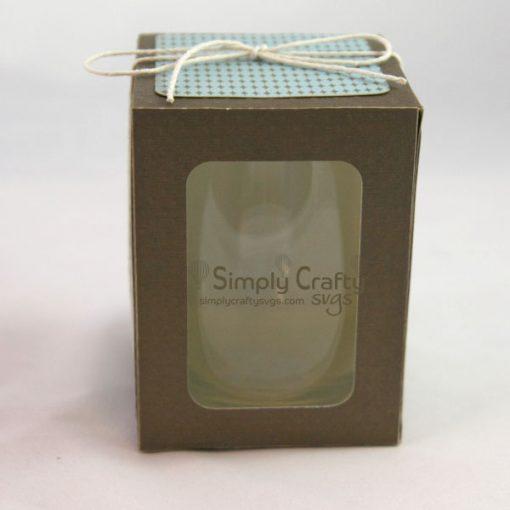 Medium Stemless Wine Glass Box SVG File