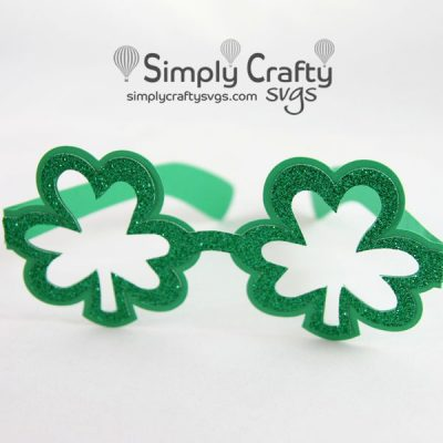 Shamrock Glasses SVG File