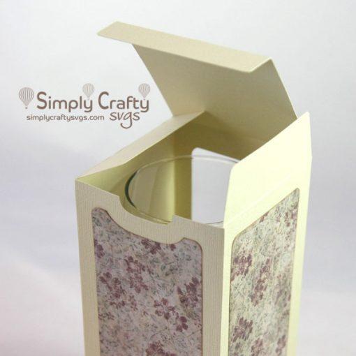 Square Wine Glass Box SVG File