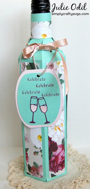 Wine Bottle Box by DT Julie