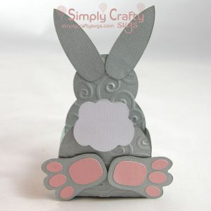 Bunny Butt Box SVG File