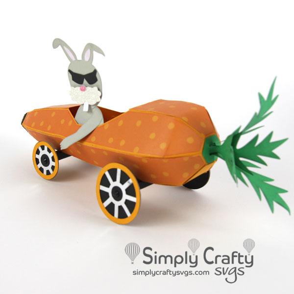 Carrot Hot Rod SVG File
