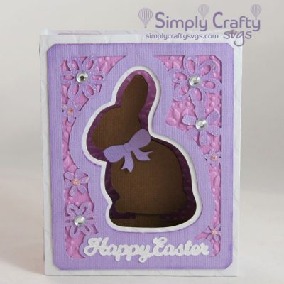 Chocolate Bunny Box Card SVG File