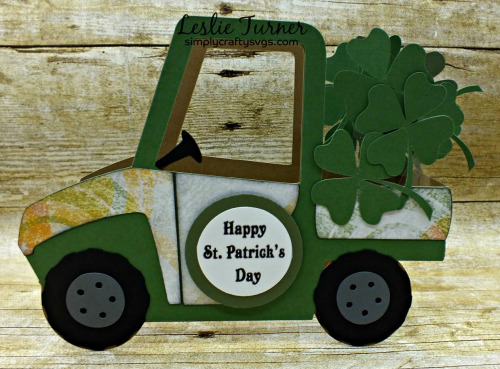 St. Patrick's Day Side by Side Box Card by DT Leslie