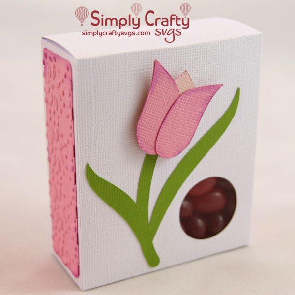 Tulip Candy Box SVG File