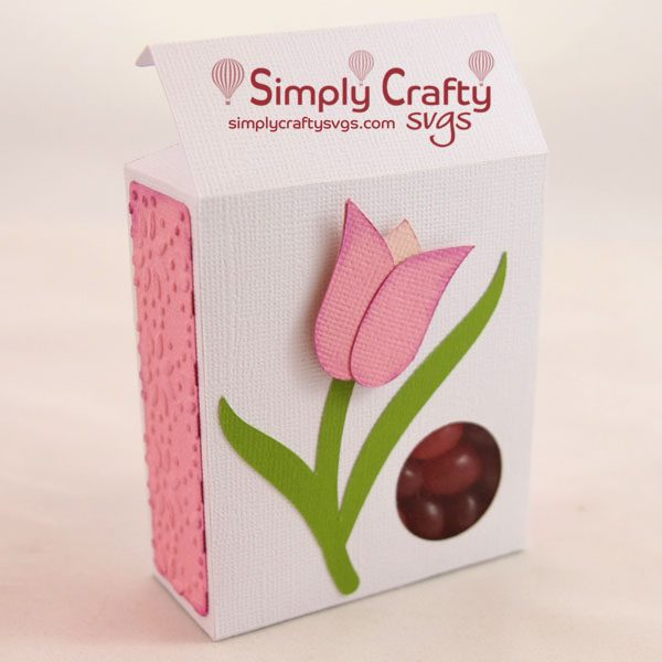 Tulip Candy Box SVG File