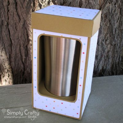 Medium Tumbler Box SVG File