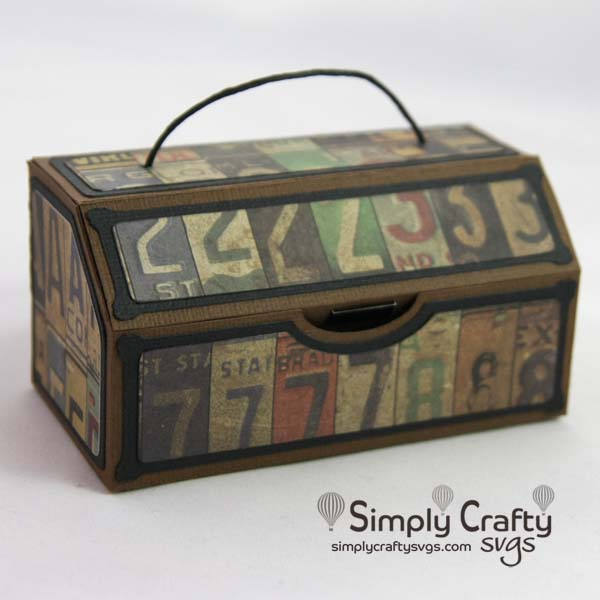 Masculine Slanted Gift Box-Free SVG