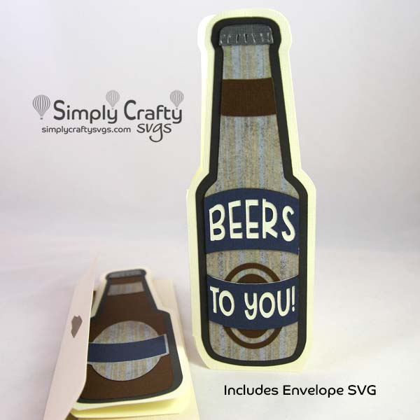 Beer Bottle Card SVG File