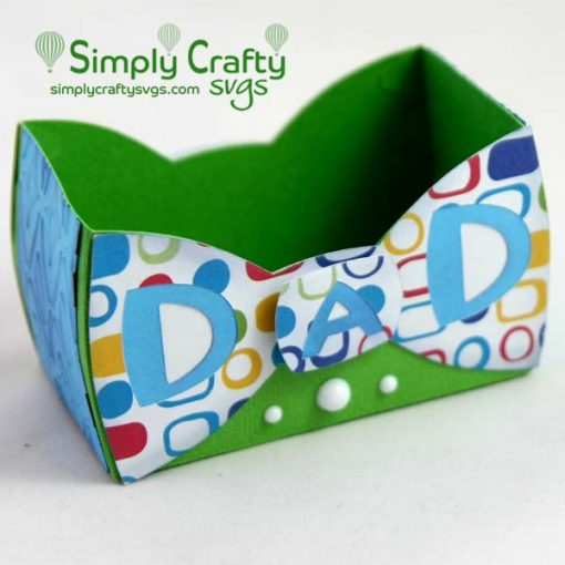 Dad Bow Tie Box SVG File