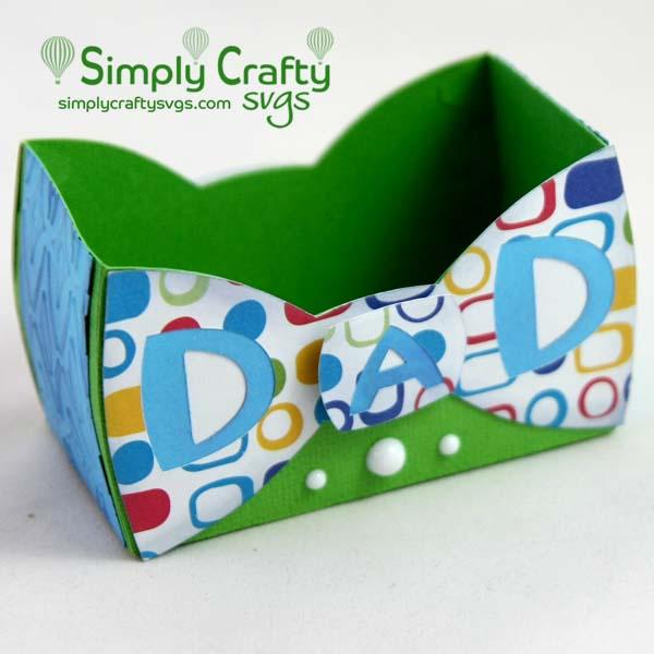 Dad Bow Tie Box SVG File
