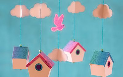 Birdhouse Mobile by DT Janet