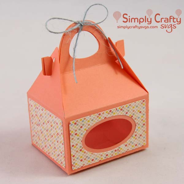 Mini Gable Gift Box SVG File