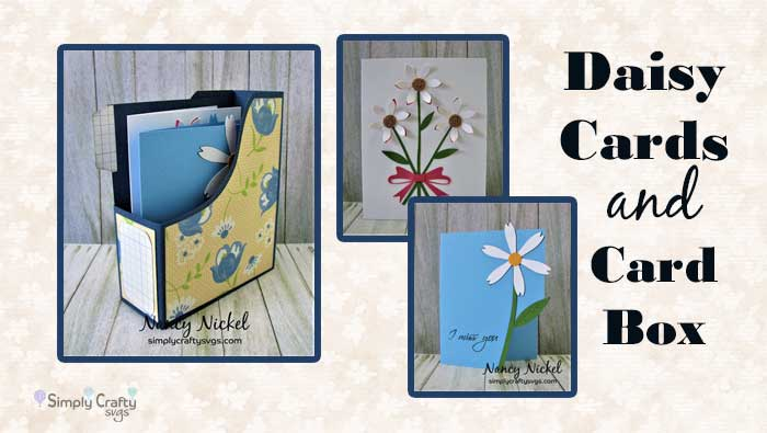 Daisy Cards with Card Box by DT Nancy