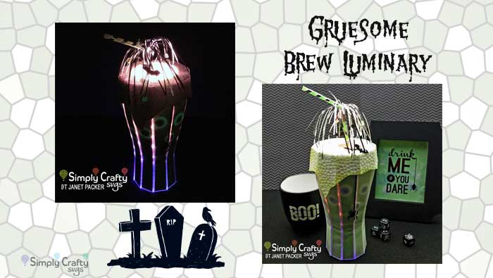 Gruesome Brew Luminary by DT Janet Packer