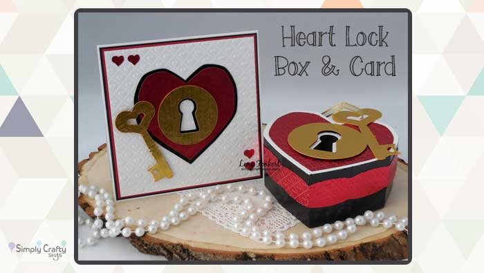 Heart Lock Box and Card Combo by DT Lena