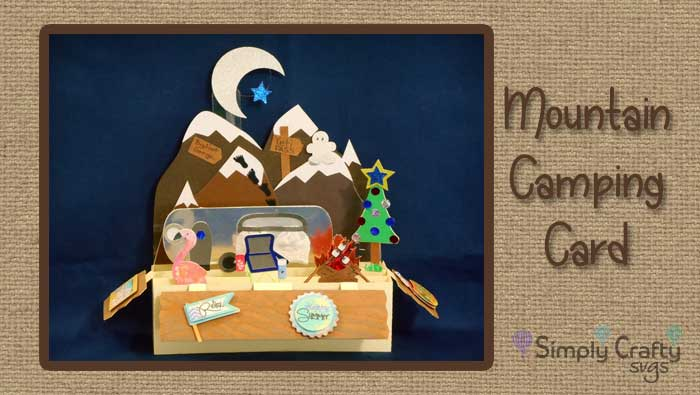 Fun Mountain Camping Card by DT Jana