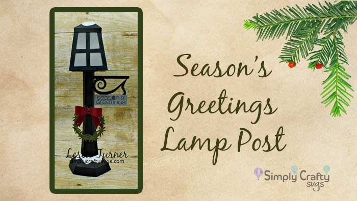 Seasons Greetings Lamp Post by DT Leslie