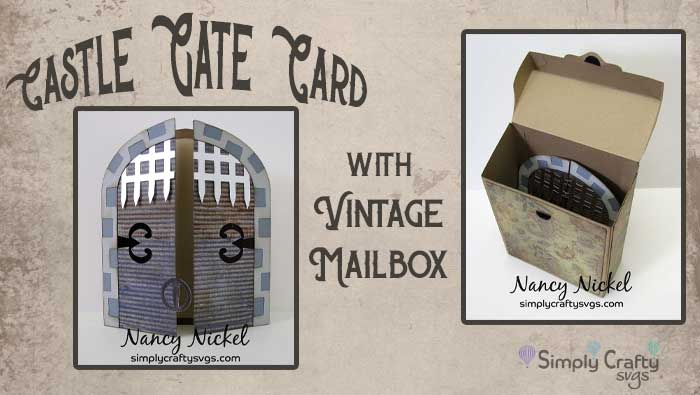 Castle Gate Card with Vintage Mailbox by DT Nancy