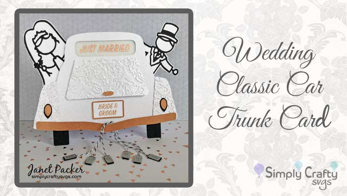 Wedding Classic Car Trunk Card by DT Janet