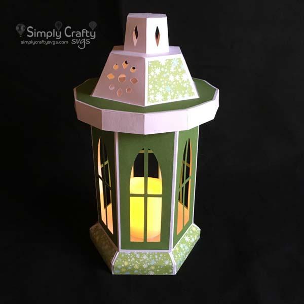 Tall Window Lantern SVG File