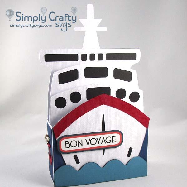 Cruise Ship Box Card SVG File