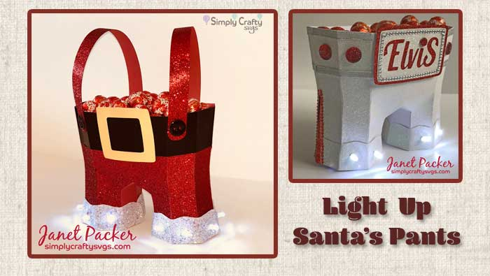 Light Up Santa's Pants by DT Janet
