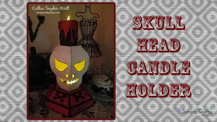 Skull Head Candle Holder by DT Cathie